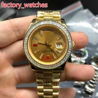 relogios mecânicos quadrados venda por atacado-Relógios de ouro de alta qualidade relógios de marca de Moda dos homens Relógios de ouro de aço inoxidável quadrado cor de diamante relógio mecânico automático navio livre