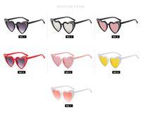 ingrosso occhiali da sole in cristallo-Bambini occhiali da sole ragazze amore a forma di cuore occhiali da sole brillanti bambini intarsio strass fotografia puntelli kid beach sunblock occhiali da sole D0485