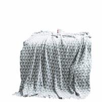 roupa de cama padrão azul venda por atacado-Azul Branco Padrão Retangular Ponderada Cobertor Grosso 1 pc Lance Cobertor No Sofá Cama Avião Viagens Mantas Adulto Home Têxtil Cobe