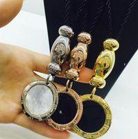 ingrosso tag grandi del regalo-2018 Luxury brand uomini e donne collana in acciaio inox gioielli grande tag collana regalo di viaggio per il tempo libero