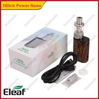 kit eleaf tc al por mayor-Original Eleaf iStick Power Nano Starter Kit 1100mAh Con iStick Power Nano 40W TC Mod Melo 3 Nano 2ml Top de llenado