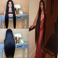 Wholesale super human hair wigs for sale - Group buy Super Long Lace Front Human Hair Wigs Middle Part Straight Full Lace Wig with Baby Hair inch Brazilian Remy Hair Pre Plucked