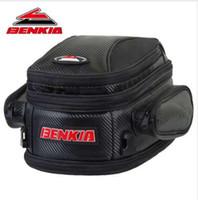 bolso negro de la motocicleta al por mayor-BENKIA Bolsa de motocicleta Bolsa de sillín Asiento trasero Bolsas de equipaje Viaje en motocicleta Equipaje de viaje Bolso Moto Negro Bolsas
