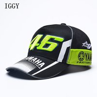 Wholesale motorcycle racing hats for sale - Group buy Iggy High Quality Moto Gp Motorcycle d Embroidered F1 Racing Cap Men Women Snapback Caps Rossi Vr46 Baseball Cap Yamaha Hats