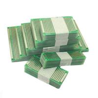 breadboard ücretsiz gönderim toptan satış-20 adet / grup 5x7 4x6 3x7 2x8 cm Çift Yan Prototip Diy Evrensel Baskılı Devre PCB Kurulu Protokolü Arduino Için