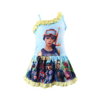 Wholesale Fortnite girls swimwear One Pieces Girl Swimsuit flower swimming dress Fortnite Printed swim suit holiday Bathing Suits summer gifts