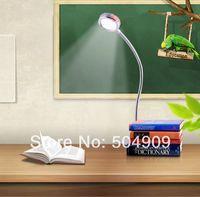 ingrosso la lampada da tavolo ha portato il bianco caldo-3W 3 * 1W Warm White LED comodino da tavolo da tavolo Lampada da lettura Morsetto Clip Studio da studio Lampadina interruttore on / off Flessibile