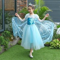Wholesale party dresses for teenagers online - Christmas Dresses For Teenager Girl Party Cosplay Frock Xmas Fashion Children Lace Ceremony Pageant Princess Dresses