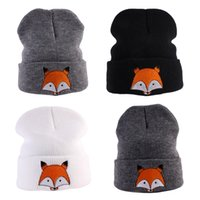 вязаные детские шапки оптовых-Baby Kids Winter Warm Cotton Beanie Hat Girls Boys Cartoon  Infant Knitted Caps