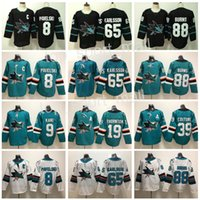 02610f68e29 San Jose Sharks Jersey Hockey 8 Joe Pavelski 65 Erik Karlsson 19 Joe  Thornton Logan Couture 88 Brent Burns 9 Evander Kane White Green Black