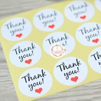 """120PCS Round /""""Thank you/"""" Packaging Seals Kraft Labels Sticker DIY Craft Making"""