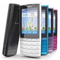 Wholesale cheap 3g unlocked phones - Refurbished Original Nokia X3-02 Bar Unlocked Mobile Phone 2.4 inch Screen 5MP Camera Bluetooth WIFI 3G Cheap Phone Free DHL 10pcs
