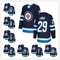 Wholesale New Jersey Jets - Winnipeg Jets 2017-2018 New Hockey Jerseys #29 Patrick laine #52 Roslovic #13 Tanev #5 Stuart #12 Stafford Any custom embroidery