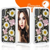 Wholesale press fittings for sale - Group buy For iphone X case Soft Silicone Ultra Thin Cover Dried Flowers Handmade Pressed for Samsung s9 note9 iphone plus