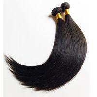 cheveux remy péruvien 5pc achat en gros de-Non Transformés Brésilienne Vierge Cheveux Weave meilleure qualité Pas Cher 8-30 pouce Indien Remy Extensions de Cheveux Humains 5 pc lot Naturel Couleur Dyeable