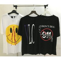 Wholesale face popping - T Shirts Newest Hip Hop Smiley Face T-Shirt Smoky Gun 3D Printed Bullet V Top Tees Purple POP Limited