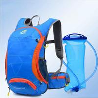naylon çanta taşımak toptan satış-18L Bisiklet Naylon Su Geçirmez Sırt Çantası Off-road Maraton Çalıştır Taşıma Su Isıtıcısı Su torbası Bisiklet Aksesuarları Çanta