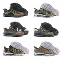 Wholesale france country - 2018 New 97 Country Camo Pack USA UK France Germany Italy Bullet Mens Running Shoes Sports High Quality 3M Premium Zoom Sneakers 40-46