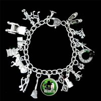 Wholesale bracelet stories for sale - 12pcs Wicked Musical Charm Bracelet The Untold Story Of The Of Oz silver tone