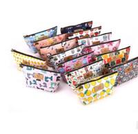 Wholesale makeup cases online - printing pattern outdoor travel cosmetic bag fashion cartoon waterproof storage bag Lady s zero purse Travel Makeup Case KKA4374