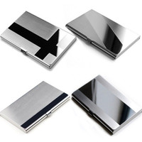 Wholesale stainless steel women business card holder for sale - Group buy Professional Business Card Holder Case Stainless Steel Slim Design for Men and Women Promotional Gifts