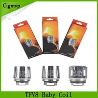 Wholesale TFV8 Baby Coil head V8 Baby Replacment T8 T6 X4 M2 Q2 ohm ohm For TFV8 Baby Tank