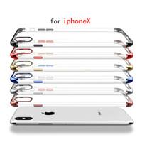 iphone transparent ultra ince toptan satış-Cep Telefonu Kılıfları Moda Cep Kapak Korumak Ultrathin Yumuşak Şeffaf Mix Renk Cep Telefonu Temizle Kabuk X87
