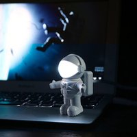 Wholesale baby bedroom star light - New Fashion LED night light USB Plug Astronauts Model novelty keyboard bed lamp For Baby Bedroom Gift Romantic Lights