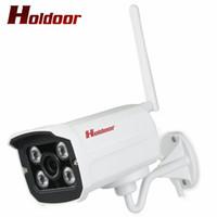 cámara wifi ip66 al por mayor-Holdoor WiFi CCTV cámara de seguridad 1080P / 960P / 720P cámara IP inalámbrica al aire libre IP66 Home Surveillance Motion Sensor Video Android iOS