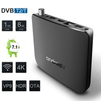ingrosso casella dvd android-Mecool M8S Plus DVB T2 TV Box Android 7.1 Amlogic S905D Quad Core Wifi Smart Media Player 1GB RAM 8GB ROM