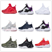 Wholesale womens spring - human race Ultra Run IV Classical Running Shoes Black White Oreo Grey Huarache Shoes Mens Womens Running Shoes Sneakers