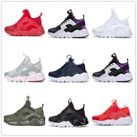 Wholesale human race red shoes for sale - human race Ultra Run IV Classical Running Shoes Black White Oreo Grey Huarache Shoes Mens Womens Running Shoes Sneakers