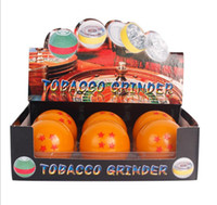 Wholesale acrylic dragon balls resale online - The new cartoon dragon ball animation grinder creates layers of zinc alloy spherical smoke cutter smoke and smoke filler