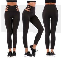 Wholesale leggings time for sale - Group buy Black Solid Hollow Out High Waist Sexy Pants Women Sporting Workout Fitness Leggings Push Up Adventure Time Breathable Leggings for Female