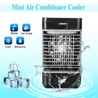 Wholesale fan flow - 2018 110v 220v Air Conditioner 2-speed Moisture Quiet Fan Cooler US EU Plug ABS Humidifier Purifier Portable Home Cooling Flow Filter