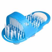 ingrosso doccia pulita piedi-Piedi File Scrubber Piedi facili Piede Cleaner Spa Pantofole Spazzola Massaggiatore Pulire Bagno Doccia Pulire il trattamento di cura del piede blu