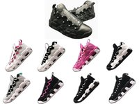 Wholesale footwear soccer shoes online - Top More Money QS Uptempo Basketball Shoes Couples Men Women Designers Get Money Shoes Colors Trainers Sport Footwear Athletic Sneakers