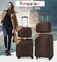 """Wholesale Business Travel Suitcase - Classic Travel Suitcase set ,Brand Rolling Luggage Bag,Waterproof PVC business Trolley case,16""""20""""22""""24"""" Spinner wheel Carry on"""