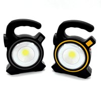 Wholesale solar spot flood lights for sale - Group buy Solar Powered USB lights W LED flashlight Portable Lanterns COB Spot Rechargeable Flood Light Outdoor Work NNA595