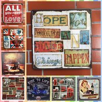 Wholesale tablet making for sale - HOPE FOR TOMORROW AND MAKE THINGS HAPPEN cm Posters Home Decor Tin Signs Graphic Tablet Metal Art Wall Paint Crafts Supplies