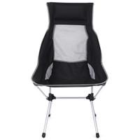 koltuk lambaları toptan satış-Siyah Açık Ultra hafif Alüminyum Alaşım Katlanır Recliner Kamp Sandalye kolay çıkarmadan montaj için taşınabilir katlanır koltuk