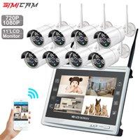 sistema de cámara de vigilancia para el hogar de 8 canales. al por mayor-Sistema de cámara de CCTV Inalámbrico 720P / 1080P 8CH 1MP / 2MP Cámara IP impermeable al aire libre P2P Sistema de vigilancia por video para el hogar