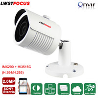 Wholesale Array Networks - LWSTFOCUS 2MP 1080P HD IP Camera Micro SD TF Card Sony IMX290 Onvif P2P Outdoor Network CCTV Camera Optional Audio Array Leds