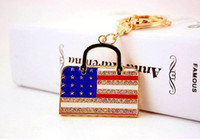 ingrosso bandiere diy-Portachiavi portachiavi a forma di bandiera nazionale USA Portachiavi - Portachiavi auto portachiavi fai da te Decor - Regali per gioielli con ciondoli per borse da donna