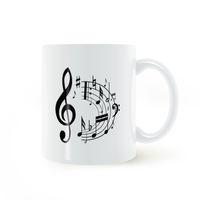 red coffee mug ceramic UK - Musical Note Symbol Treble Clef Classical Mug Coffee Milk Ceramic Cup Creative DIY Gifts Home Decor Mugs 11oz T700