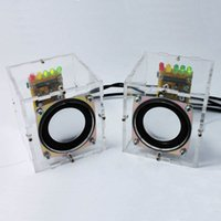 Wholesale Individuality Mini Speakers Computer Small Transparent Speaker DIY Production For Gift