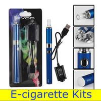 Wholesale mt3 charger - EVOD MT3 E-cigarette Kits Vape Cartridges Atomizer Pen Battery 650mAh Charger Blister Pack Electronic Cigarettes Pen 3.2V-3.8V