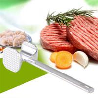 rinderhammer großhandel-Zwei Seiten Aluminiumlegierung Fleisch Hammer Mallet Tenderizer Rindfleisch Schweinefleisch Huhn Beater Pfünder Praktische Küche Geflügel Werkzeuge 6jh Z