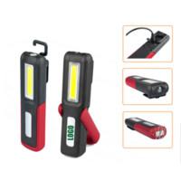 ingrosso torcia porta batteria-COB LED Outdoor USB Batteria ricaricabile Supporto portatile Torcia elettrica Magnetica appesa da lavoro Nightlight Torcia Lampada di emergenza per campeggio