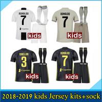 Wholesale 2018 Juventus soccer jersey RONALDO DYBALA HIGUAIN kids kit juve MARCHISIO MANDZUKIC CHIELLINI BUFFON child Football Shirt unifo